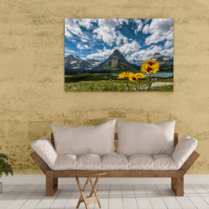 Blanket Flowers and Grinnell Point on Metal