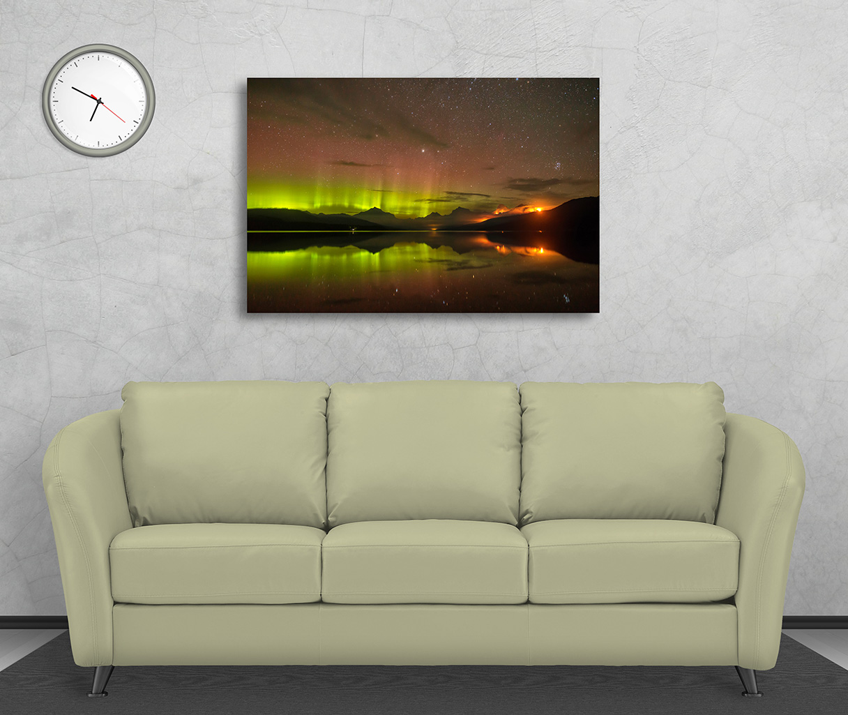 Aurora Borealis and Sprague Wildfire on Metal