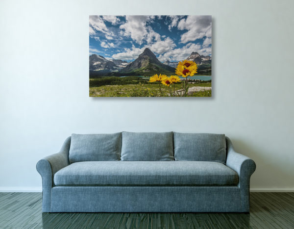 Blanket Flowers and Grinnell Point Canvas