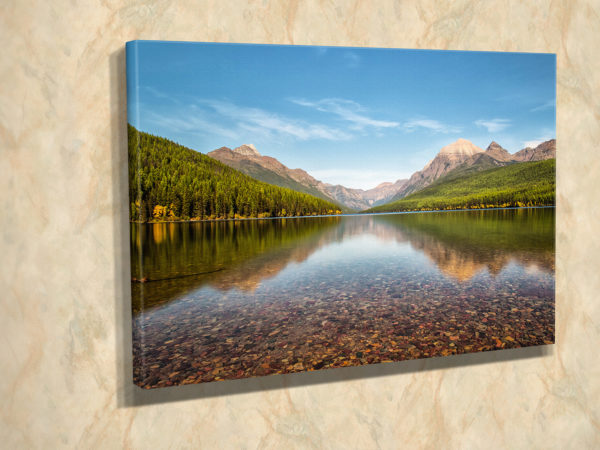 Bowman Lake Reflection Canvas