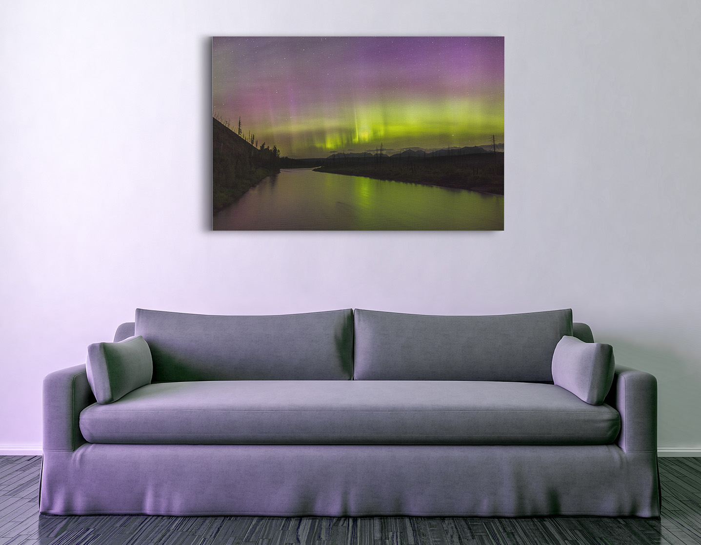 Camas Bridge Light Show Canvas