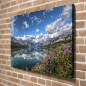 Lake Sherburne Reflection Canvas