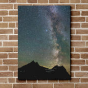 Milky Way Over Mt Cannon Canvas