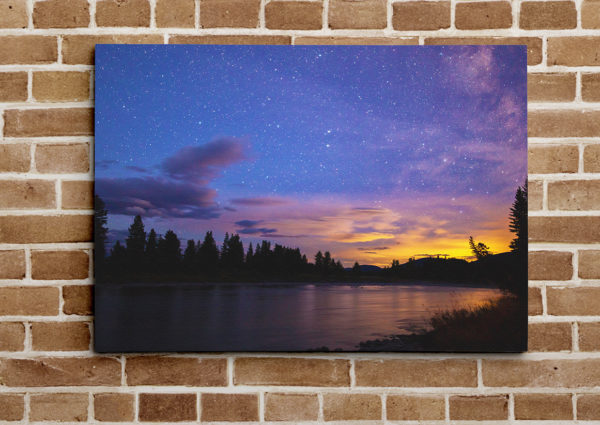 Milky Way Sunset Over the North Fork Canvas