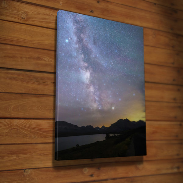St Mary Lake and the Milky Way Canvas