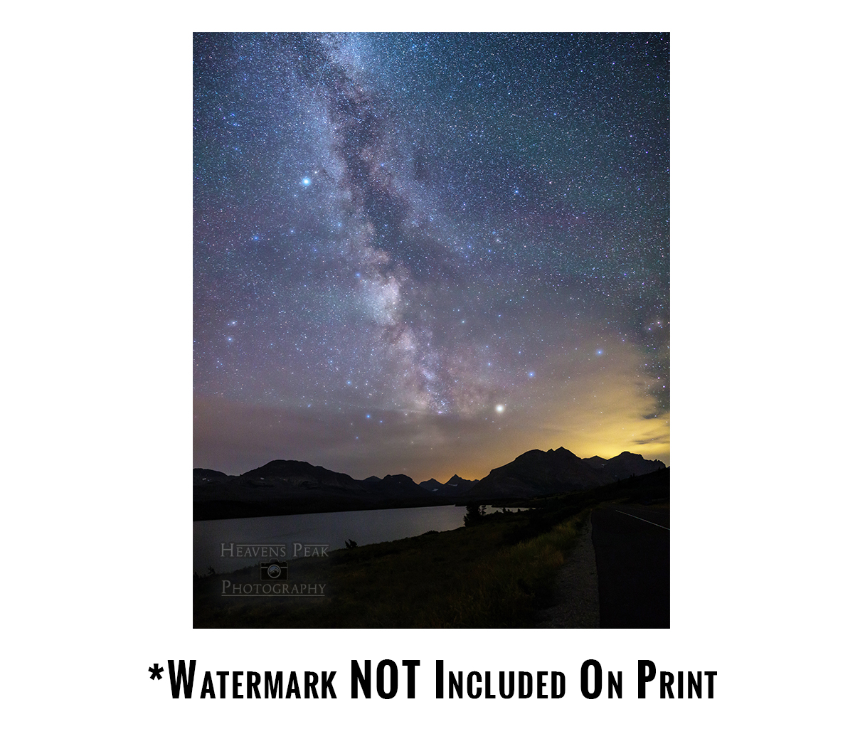 Milky Way over St Mary Lake Print