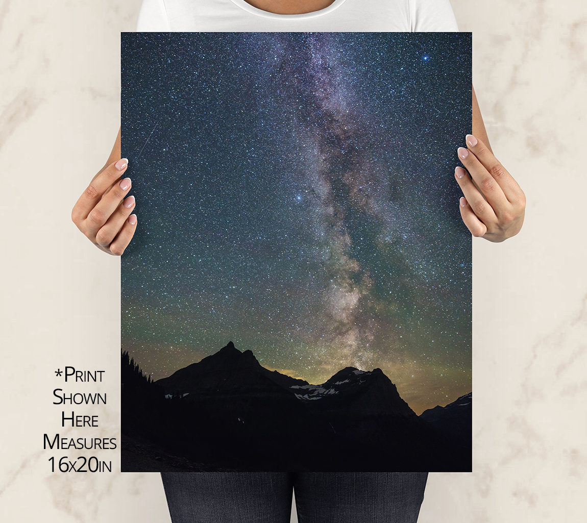 Mt Cannon and the Milky Way Galaxy Print