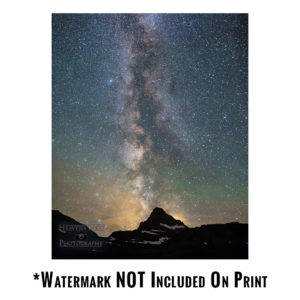 Mt Reynolds and the Milky Way Print