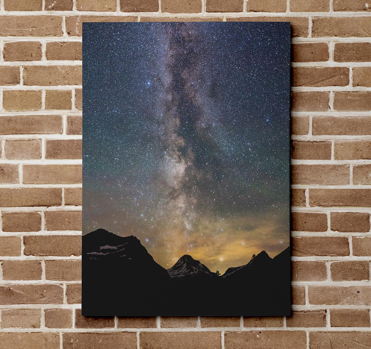Mt Jackson and the Milky Way Canvas