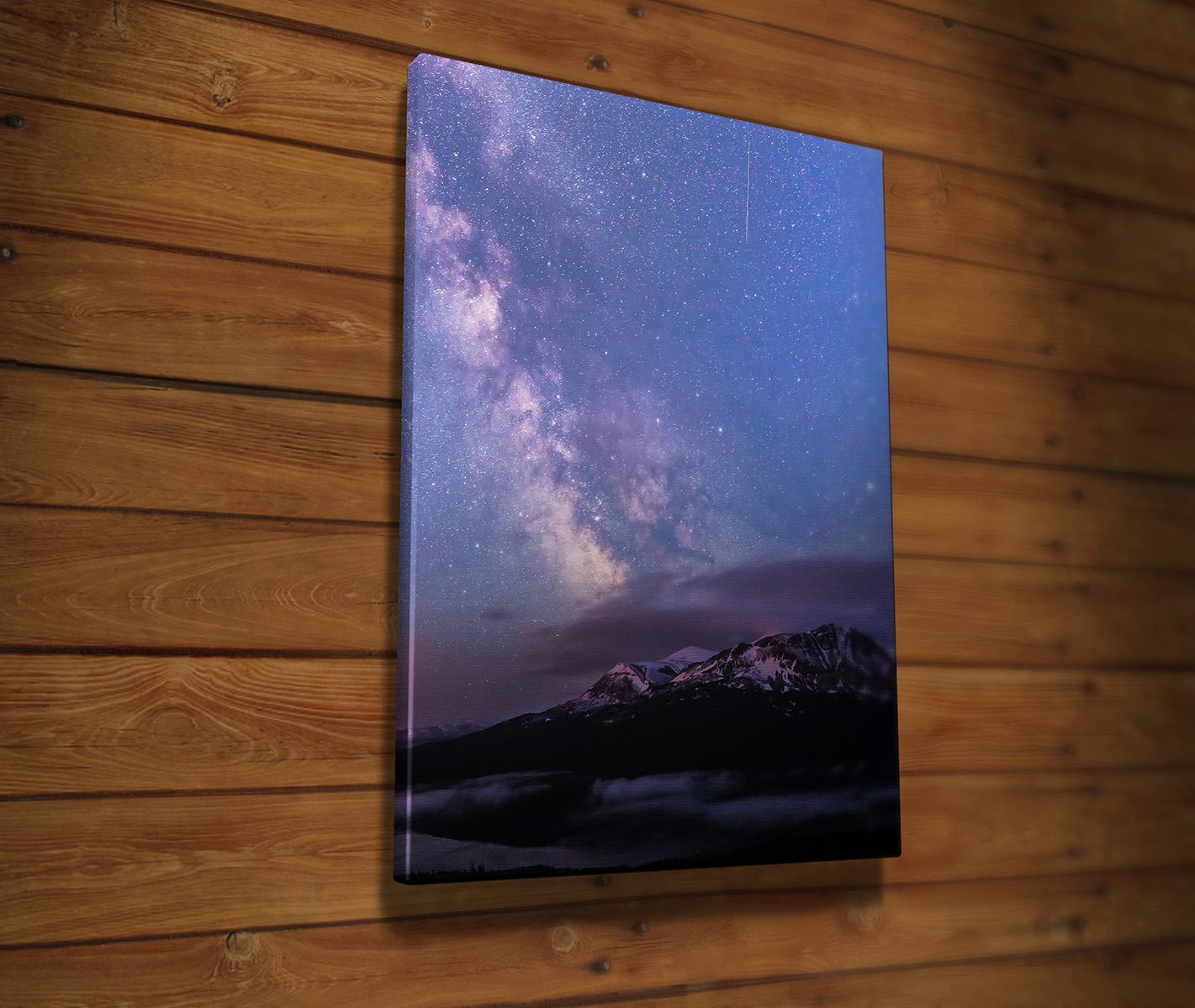 Scenic Point and the Milky Way Canvas