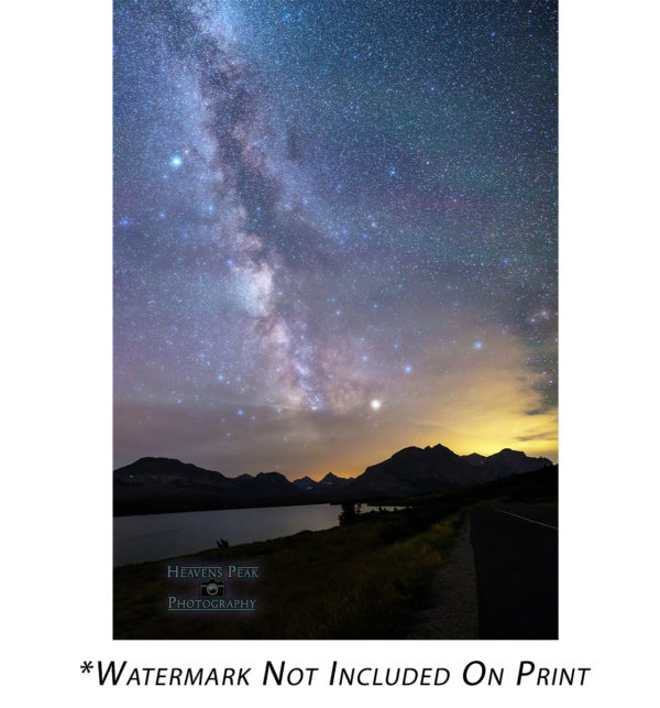St Mary Lake and the Milky Way
