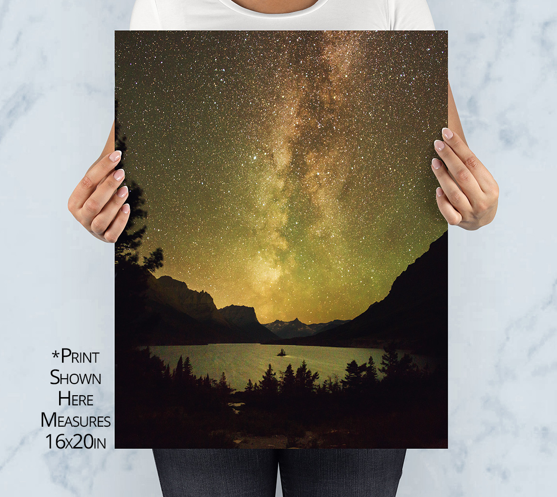 Wild Goose Golden Galaxy Print