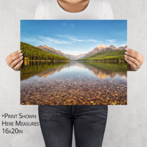 Bowman Lake Reflection Photo Print