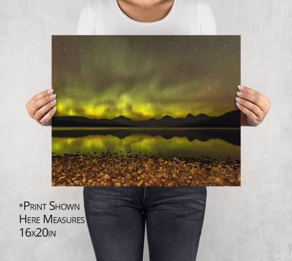 Limelight Lake McDonald Aurora Photo Print