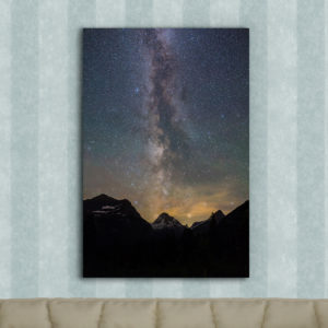 Mt Jackson and the Milky Way Metal Print