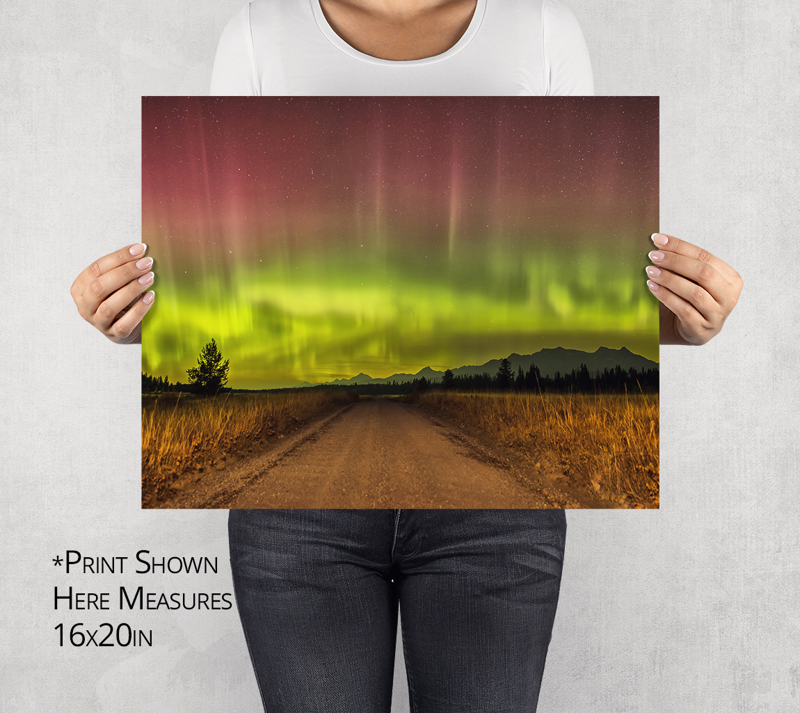 Aurora Borealis in the North Fork Photo Print