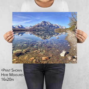 Red Eagle Reflection on St Mary Lake Photo Print