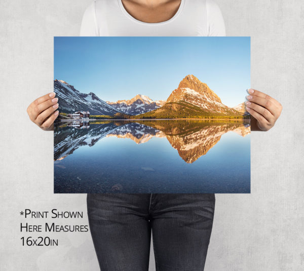 Sunrise on Swiftcurrent Lake Photo Print